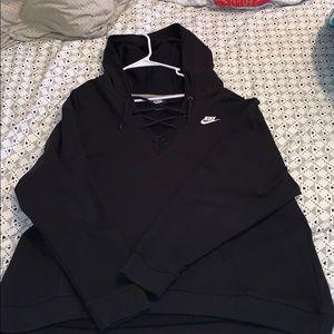 Plus size Nike hooded sweatshirt
